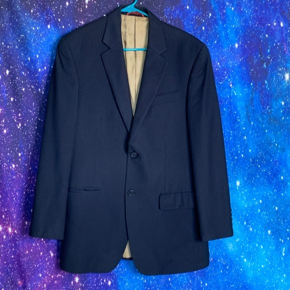 Izod Other - IZod Macy's-Blue Pinstriped Blazer size 38 Regular